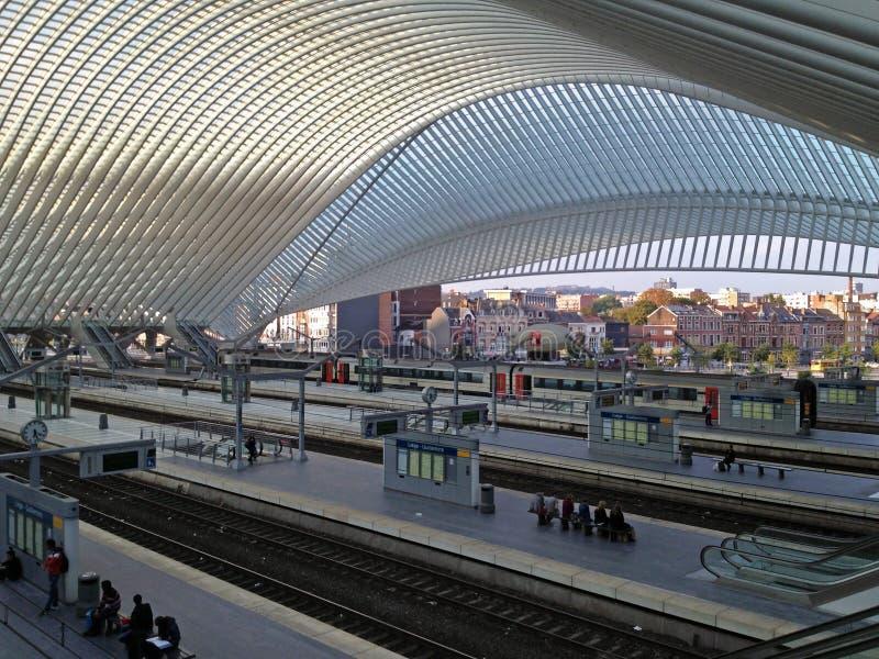 Station de train de Liège Guillemins, Belgique photo stock