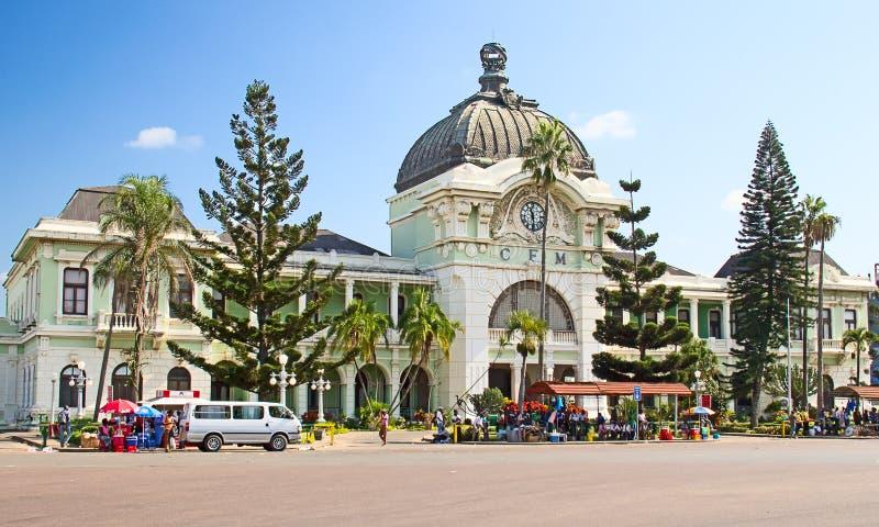 Station de train de Maputo photographie stock