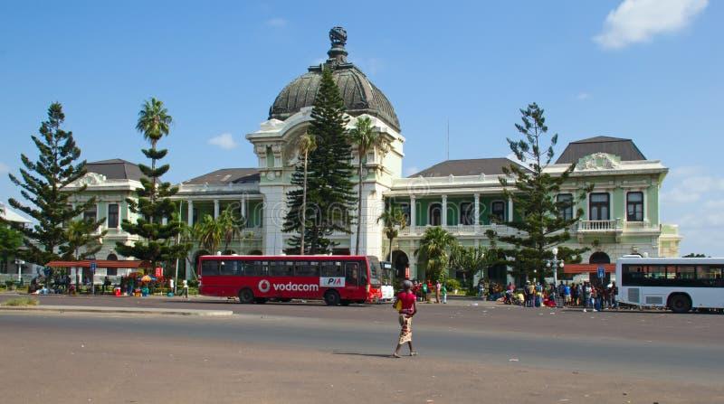 Station de train de Maputo images libres de droits