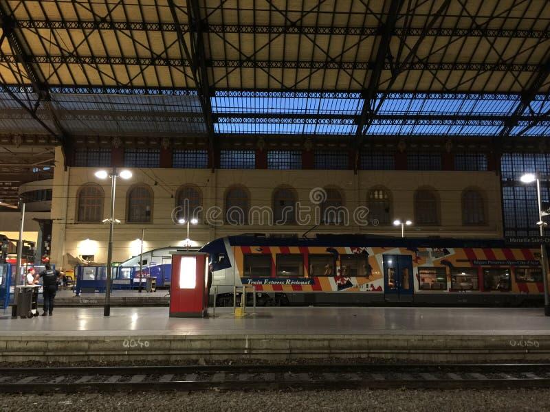 Station de train de Marseille photos libres de droits
