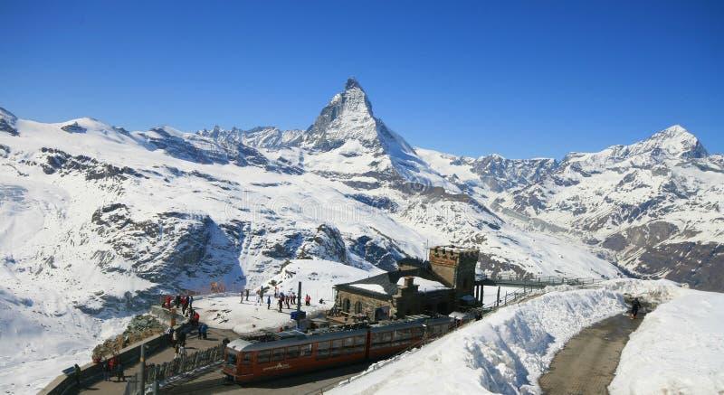 Station de train de Matterhorn image libre de droits