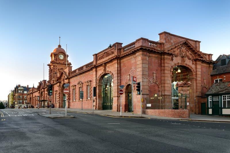 Station de train de Nottingham Angleterre R-U images libres de droits