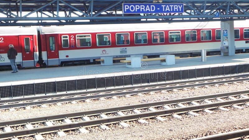 Station de train de Poprad images stock