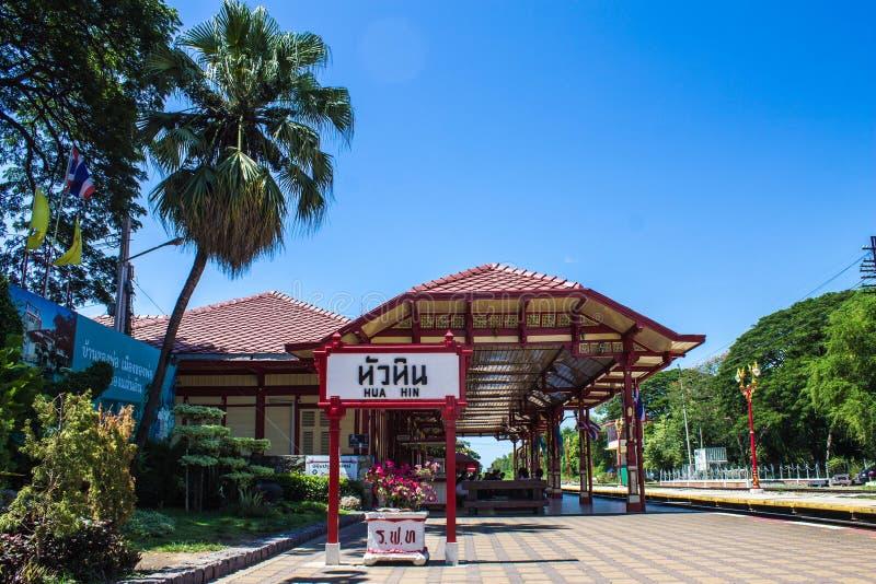 Station de train en bois photos libres de droits