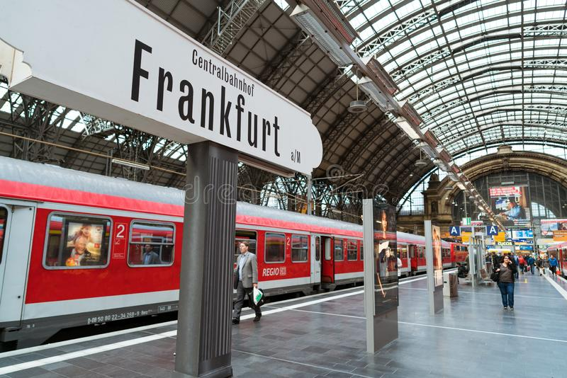 Station de train de Francfort image libre de droits