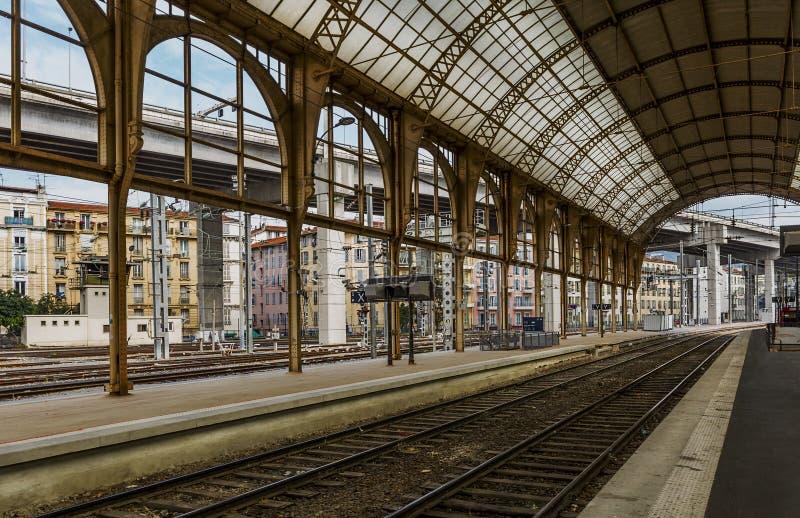 Station de train GENTILLE photographie stock libre de droits