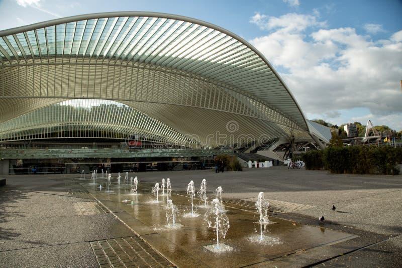 Station de train de Guillemins à Liège à Bruxelles photos stock