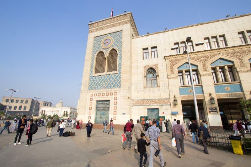 Station de train de l'Egypte dans Ramses images libres de droits