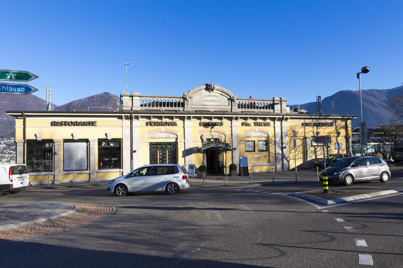 Station de train de Lugano photographie stock libre de droits