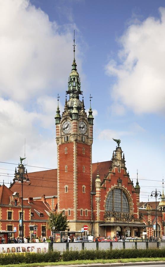 Station de train principale de Danzig poland photo libre de droits