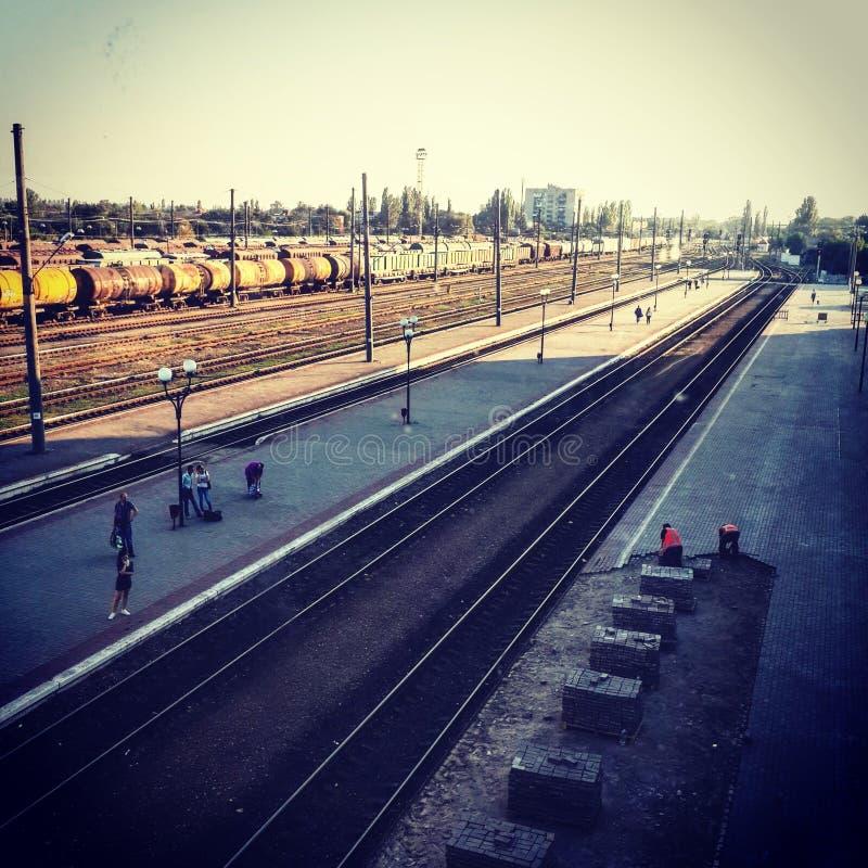 Station de train routier ! image libre de droits
