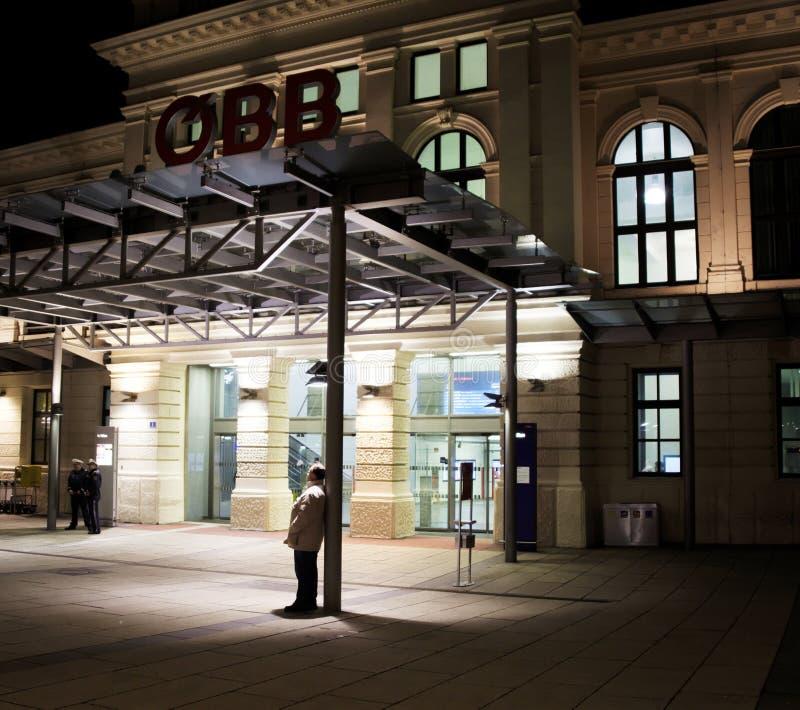 Station de train StPölten/en Basse Autriche photos libres de droits