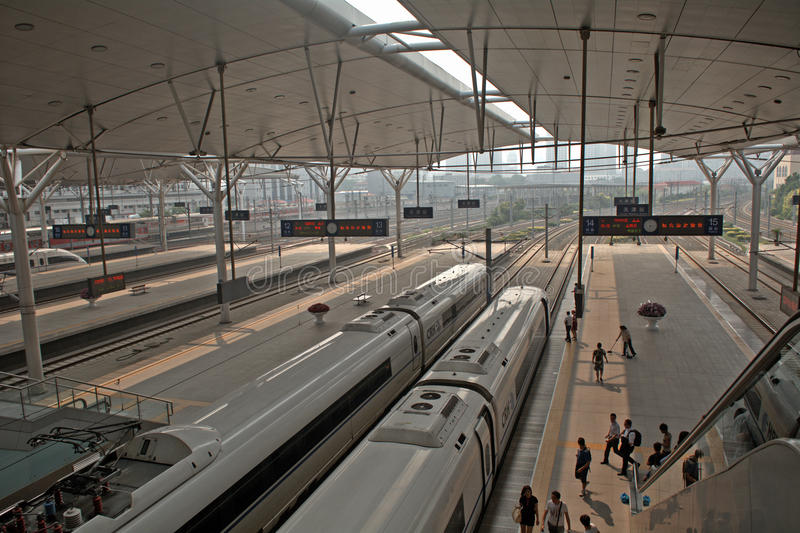 Station de train, Tianjin, Chine photographie stock