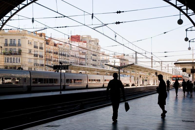Station de train Valence images libres de droits