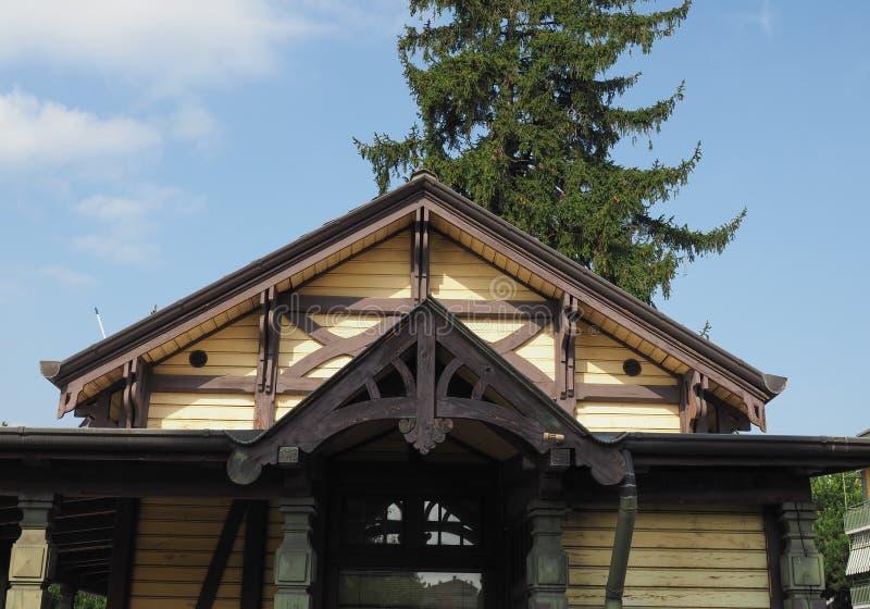 Station de tram de Leumann dans Collegno photographie stock