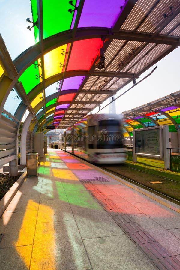 Station de tramway à Canton image stock