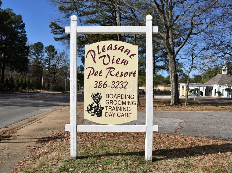 Station de vacances agréable d'animal familier de vue, Memphis, TN photo libre de droits