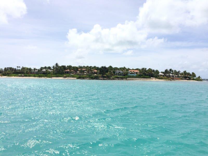 Station de vacances Antigua de baie de Jumby photographie stock