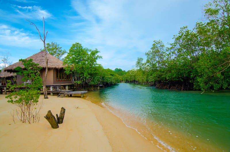 Station de vacances au payam de KOH image stock