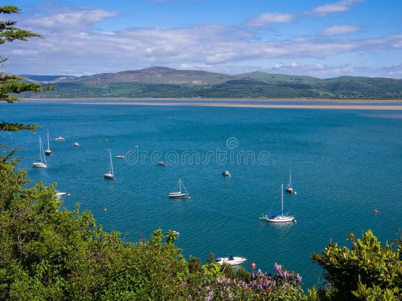 Station de vacances d'Aberdovey, Pays de Galles photographie stock libre de droits