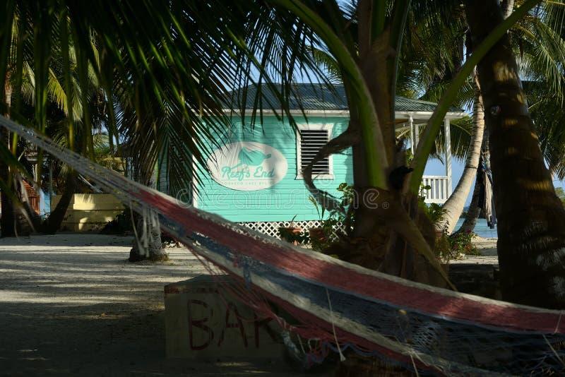 Station de vacances d'extrémité du ` s de récif à Belize photographie stock libre de droits