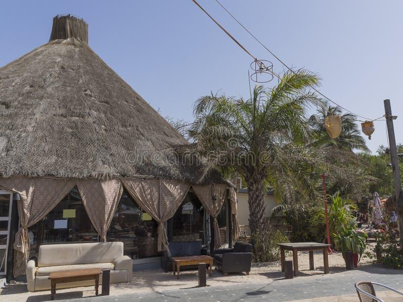 Station de vacances d'hôtel en Gambie image libre de droits