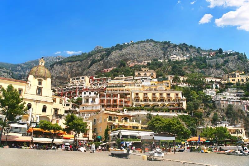 Station de vacances de Positano sur la côte Italie d'Amalfi photo stock