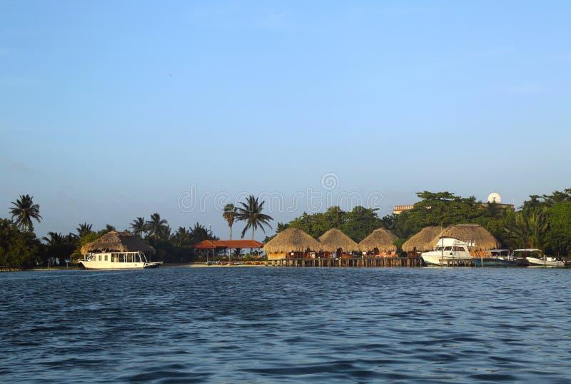 Station de vacances de San George s Caye à Belize photo libre de droits