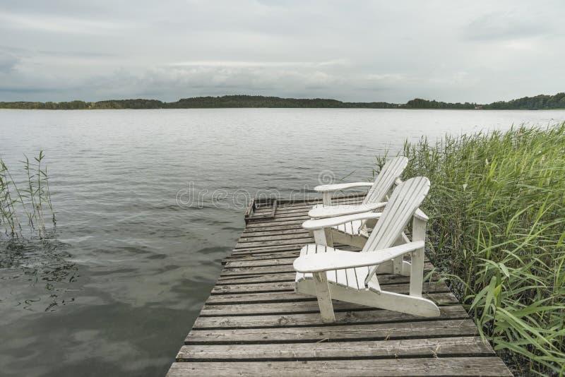 Station de vacances du nord de lac image stock