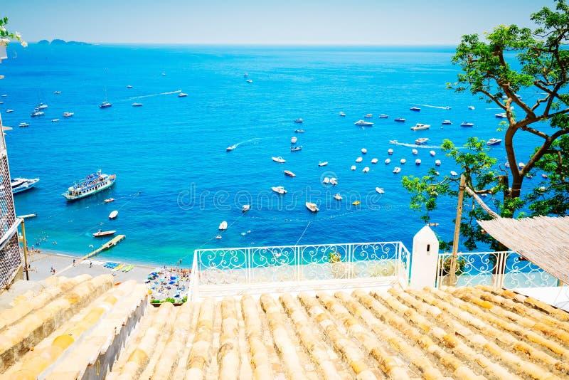 Station de vacances de Positano, Italie image stock