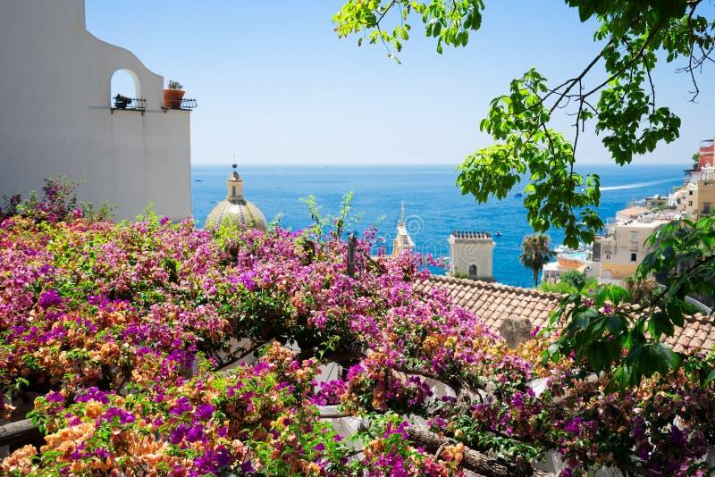 Station de vacances de Positano, Italie image libre de droits