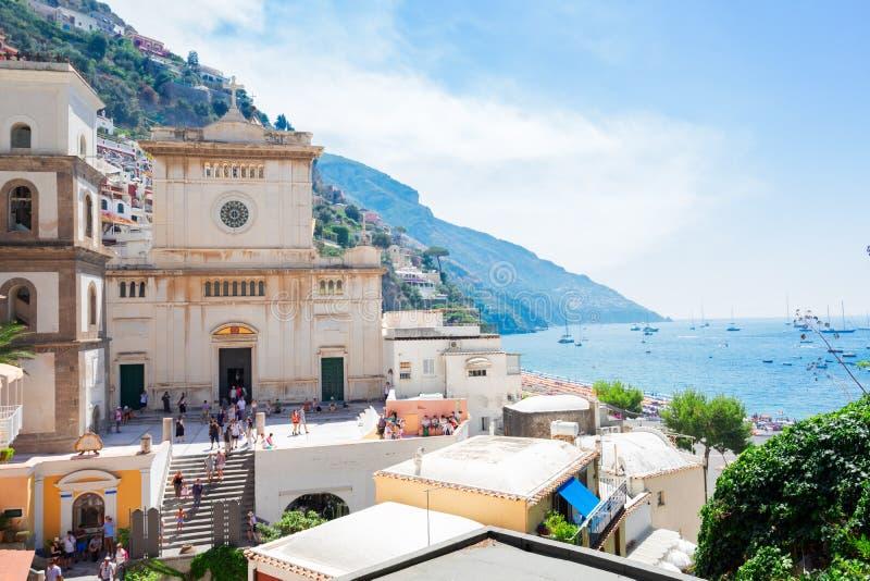 Station de vacances de Positano, Italie photo libre de droits