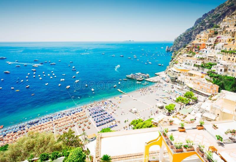 Station de vacances de Positano, Italie photo stock