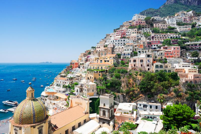 Station de vacances de Positano, Italie photos stock