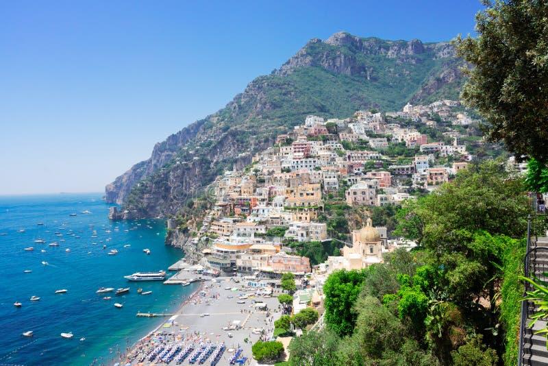Station de vacances de Positano, Italie images stock