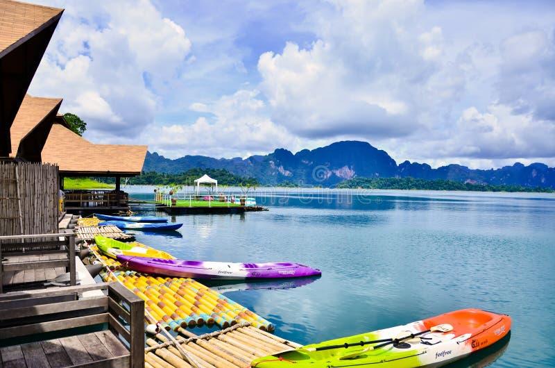 Station de vacances de 500 Rai au parc national de Khao Sok images stock