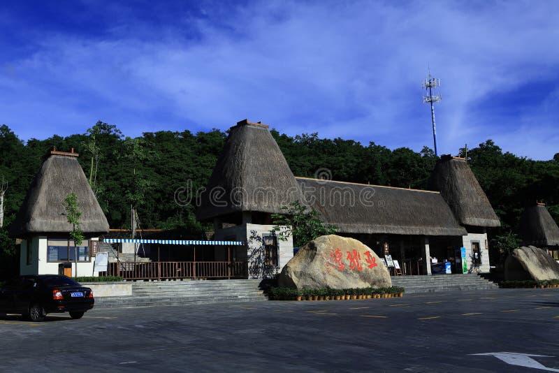 Station de vacances tropicale de paradis de Hainan de la Chine images libres de droits