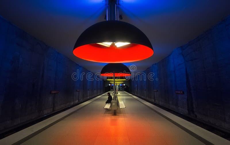 Station de Westfriedhof métro munich photographie stock libre de droits