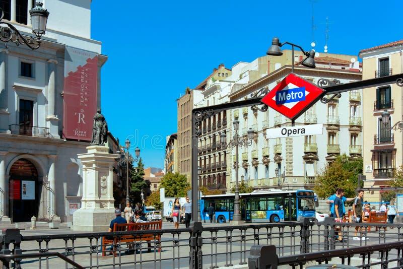 Station der Metros in M stockbilder