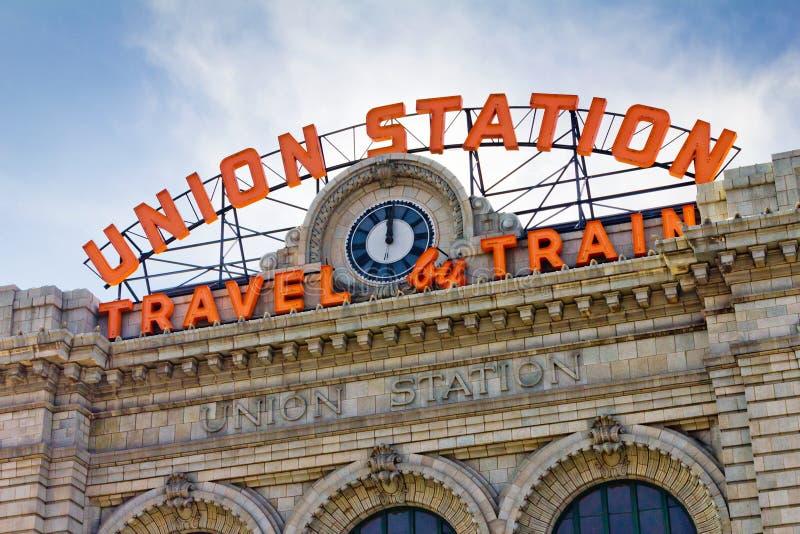 Station des syndicats à Denver photographie stock