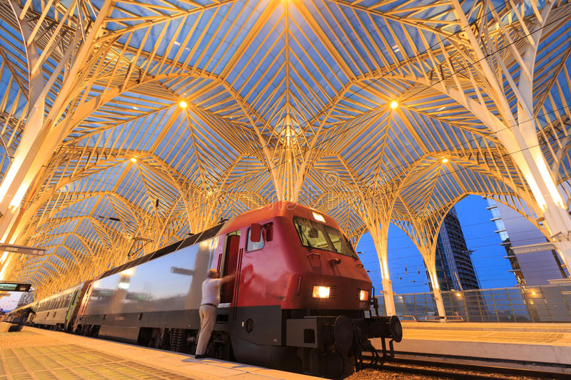 The station is designed by world famous architect Santiago Calat stock photos