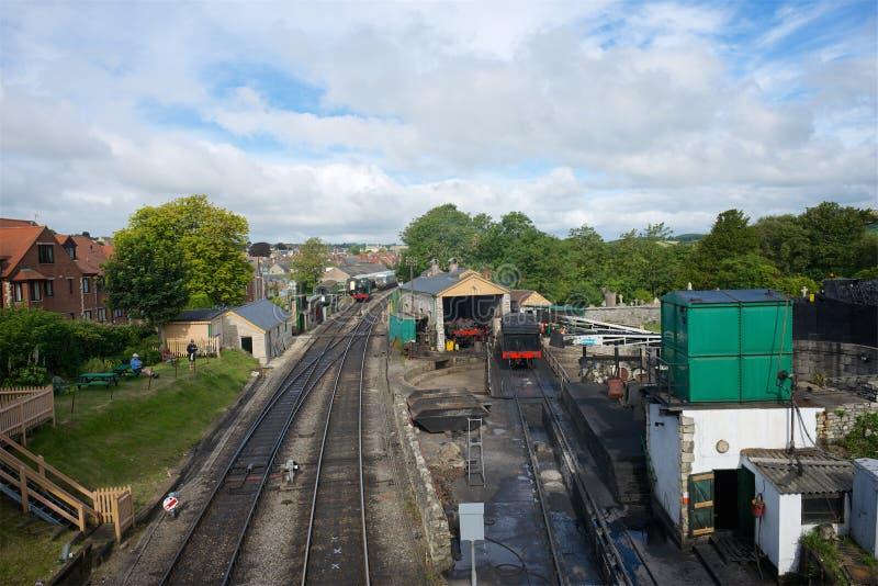 Station Dorset ferroviaire R-U de Swanage image libre de droits