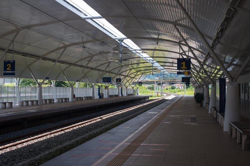 Station du service ETS de train électrique dans Taiping, Perak, Malaisie images stock