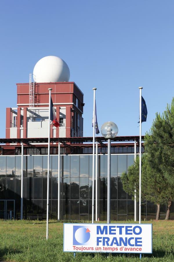 Station et bâtiment des Frances de meteo dans Merignac près de Bordeaux images stock