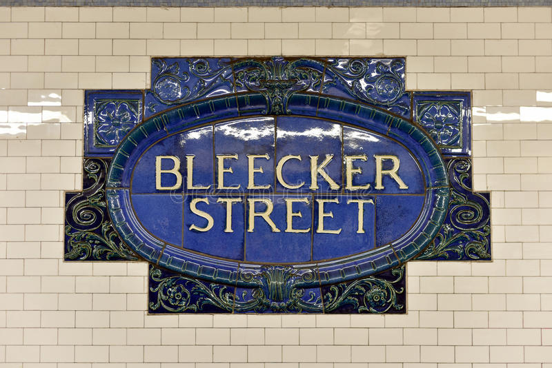 Station för Bleecker gatagångtunnel - New York City royaltyfri fotografi