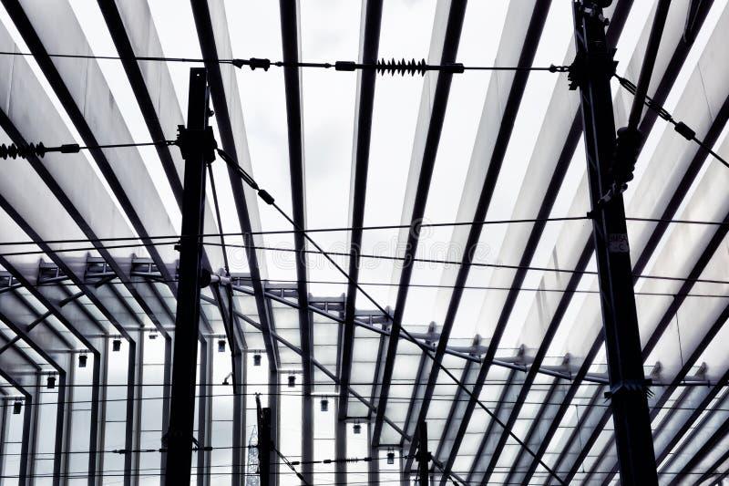 Station för Calatrava ` s - Reggio Emilia —Italien dropp fotografering för bildbyråer