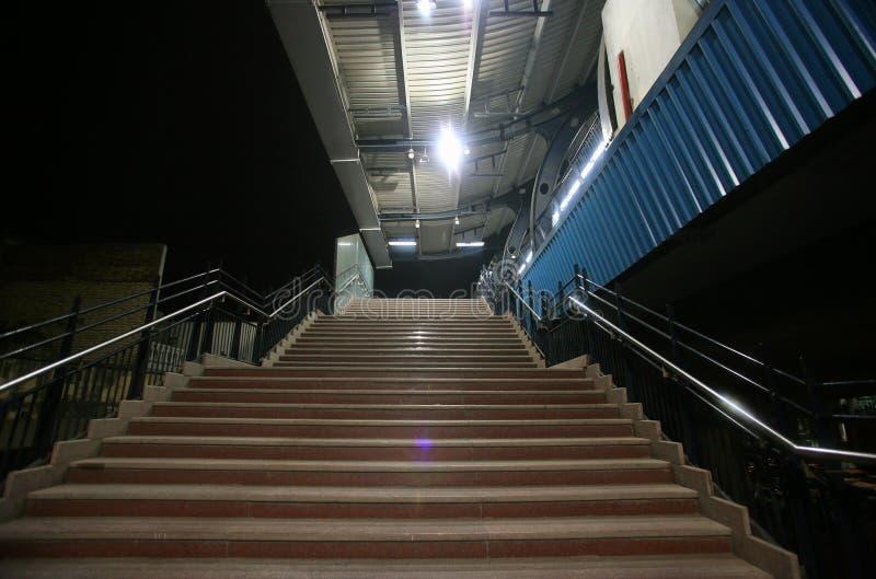 station för delhi metrotrappa fotografering för bildbyråer