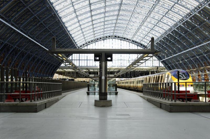 station för eurostar pancrasst fotografering för bildbyråer