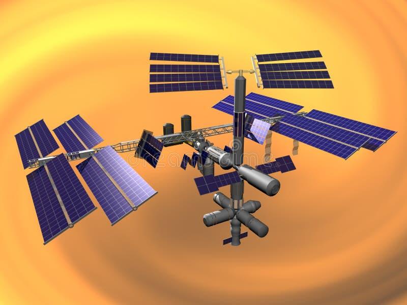 station för internationellt avstånd arkivfoto