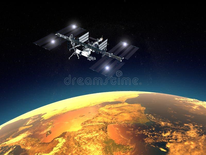station för internationellt avstånd vektor illustrationer
